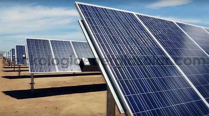 Industrial Solar Energy Farm