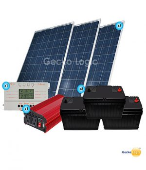 Vacation home solar kit