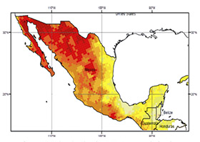 Solar Energy Intensity in Mexico