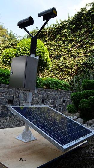 Solar Rainfall Metering Station