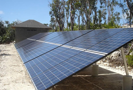 Solar off grid generator for atmospheric monitoring system